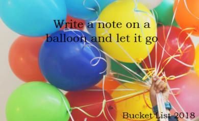 Bucket List Balloons