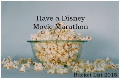 Disney Movie Marathon Bucket List