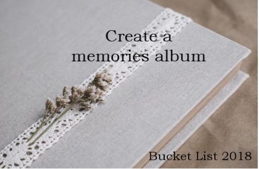 Memories Bucket List