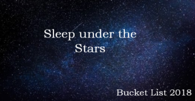 Sleep Under the Stars Bucketlist